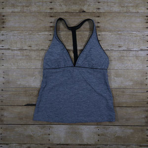 Athleta gray Tank open back fitness workout M